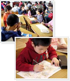 児童の授業風景